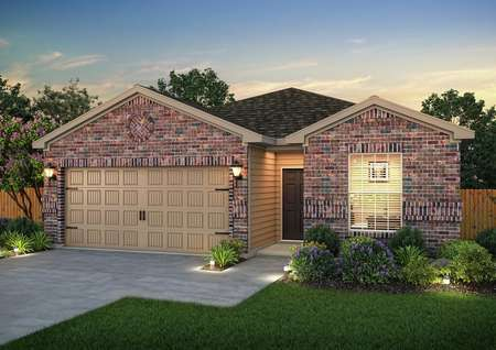 Rendering of the Maple home at dusk
