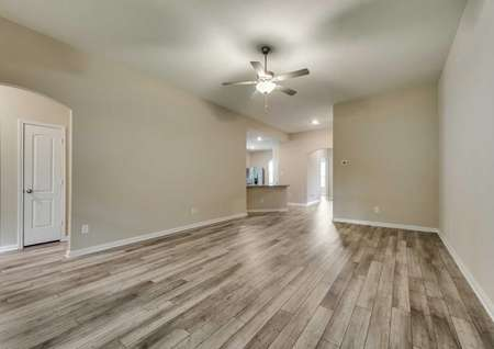 The Ontario has an incredible open layout with luxury vinyl plank flooring.
