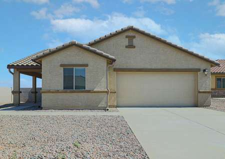 The beautiful Cottonwood with brilliant exteriors and a 2-car garage.