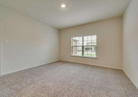 Oakmont floor plan master bedroom with large window with 2