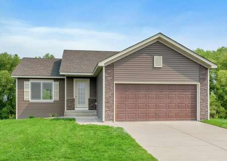 Exterior photo of the St. Charles II by LGI Homes, a detached townhome with three bedrooms, two baths and a game room.