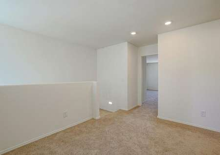 Upstairs loft area, perfect for a game room, office area or upstairs living room.