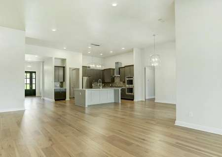 The Mantle plan has an incredible, open layout with gorgeous wood flooring.