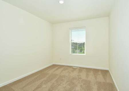 Cypress bedroom with large window, overhead light fixture, and carpeted floors