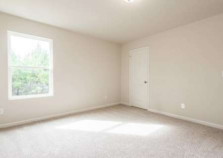 Carpeted secondary bedroom with a window in the Hartwell floor plan