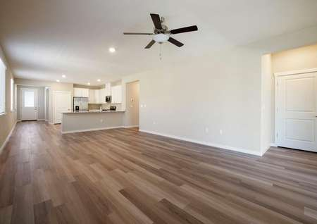 This home has an incredible open layout with a huge family room open to the kitchen.