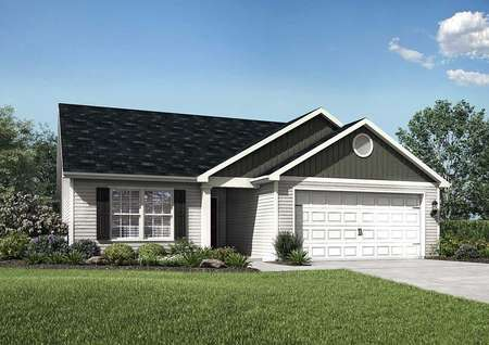 Alamance home plan picture of house front and yard