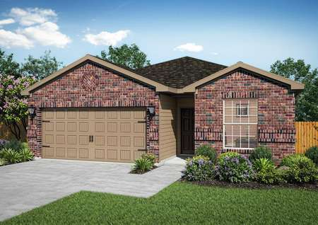 Beautiful Maple home rendered with an all brick front exterior
