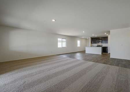 Spacious family room with ideal space for lounging around.