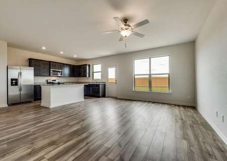 This home has an incredible open layout with luxury vinyl plank flooring throughout the first floor.