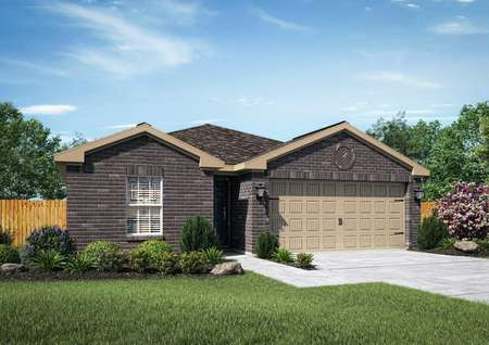 Beautiful Trinity home rendered with an all brick front exterior
