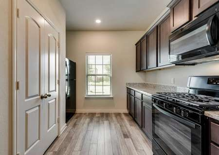 This home has great natural light with a window in the kitchen.