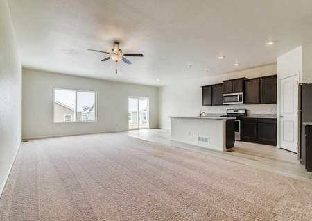 Incredible open-concept family room and kitchen in the Pike floor plan