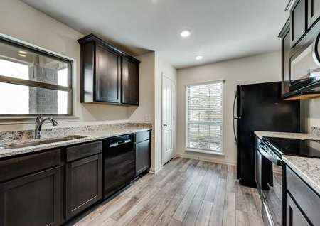 View of the Kitchen in the Santa Fe floor plan.