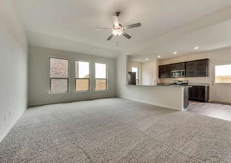 This home has a stunning open layout and great natural light in the family room.