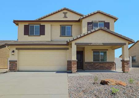 The stunning 2-story Thatcher, featuring beautiful exteriors and a 2-car garage.