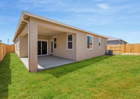 Enjoy a spacious covered patio and a fully fenced back yard.