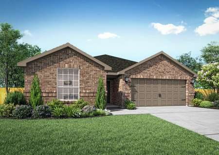 Beautiful Sabine home rendered with an all brick front exterior