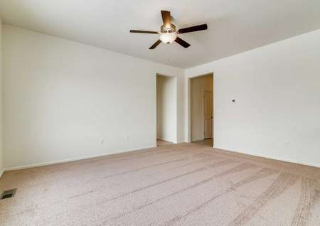 Chatfield floor plan living room with ceiling fan